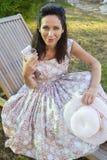 Woman gardening.   Royalty Free Stock Photo