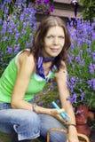 Woman Gardening Stock Images