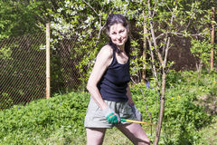 Woman gardening - autumn hobby Stock Photography