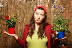 Woman gardening - Decision Royalty Free Stock Photography