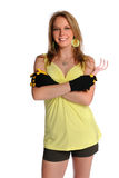Woman With Gardening Gloves Stock Photos
