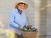 Woman gardening Royalty Free Stock Images