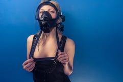 Woman in gasmask Stock Photos