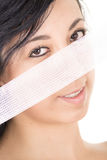 Woman with Gauze portrait Royalty Free Stock Photos