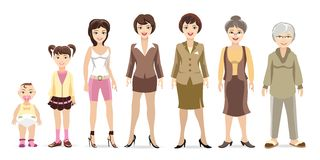 Woman generations Stock Photography