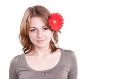 Woman with gerber Royalty Free Stock Photos
