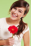 Woman with gerbera Royalty Free Stock Photography