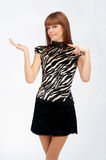 Woman gesticulating hands Royalty Free Stock Photos