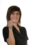 Woman with gesture Royalty Free Stock Image