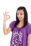 Woman gesturing Stock Photography