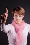 Woman gesturing with her finger Royalty Free Stock Photo