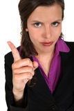 A woman gesturing Stock Photography