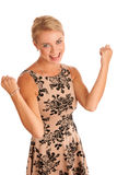 Woman gesturing success Stock Photography