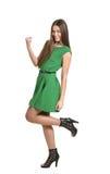 Woman gesturing winner sign Royalty Free Stock Image