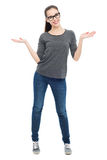 Woman gesturing Stock Image
