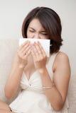 Woman get Flue Stock Photos