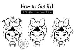 Woman get ride blackhead nose icon royalty free illustration