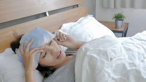 Woman get sick Stock Image