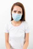 Woman get sick Royalty Free Stock Photo