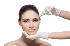 Woman gets collagen injection Royalty Free Stock Photography