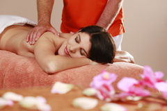 Woman gets a massage Stock Photo