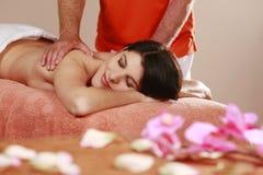 Woman gets a massage Stock Photo