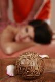Woman gets a massage Stock Photos