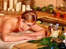Woman getting aroma massage Royalty Free Stock Images