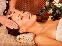 Woman getting  body massage Stock Photography