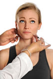 Woman Getting Botox Injections Royalty Free Stock Photography