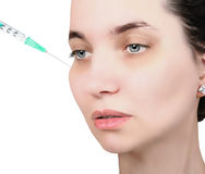 Woman getting cosmetic injection Royalty Free Stock Photo