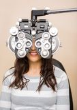 Woman Getting Eye Examination Royalty Free Stock Photography