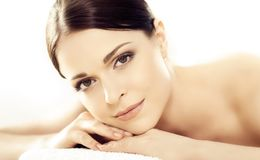 Young and beautiful woman in spa Royalty Free Stock Photography