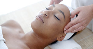 Woman Getting A Face Treatment At Spa Royalty Free Stock Photo