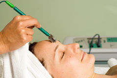 Woman Getting a Facial. Close up - Horizontal Stock Photography