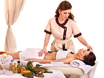 Woman getting facial mask in spa . Royalty Free Stock Image