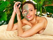 Woman getting  facial massage . Royalty Free Stock Photos
