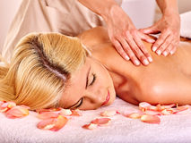 Woman getting  facial massage Stock Images