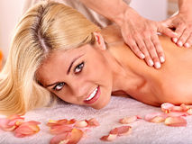 Woman getting  facial massage Royalty Free Stock Photography