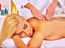 Woman getting  facial massage Royalty Free Stock Image