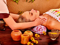 Woman getting  facial massage Stock Image