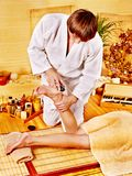 Woman getting feet massage. Stock Images