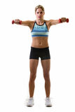 Woman getting fit Stock Image