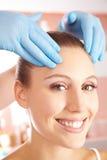 Woman getting head massage Stock Photography