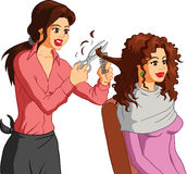 Woman getting her hair cut Royalty Free Stock Photo