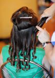 Woman getting her hair done Royalty Free Stock Images