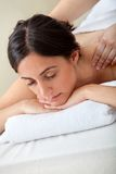 Woman getting a massage Stock Photography