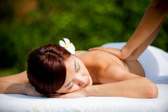 Woman Getting Massage Stock Images