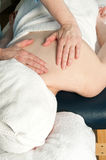 Woman getting massage Royalty Free Stock Photo