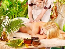 Woman getting  massage . Stock Photo